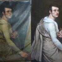 Autoportrait de dessinateur Empire- Signé Erasme Pru'hon (Pierre-Paul Prud'hon ?)